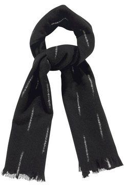 j.jayz modieuze sjaal fijne franjeranden zwart