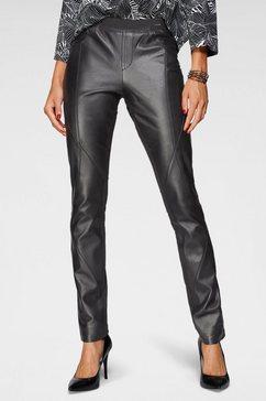laura scott leren broek legging zwart