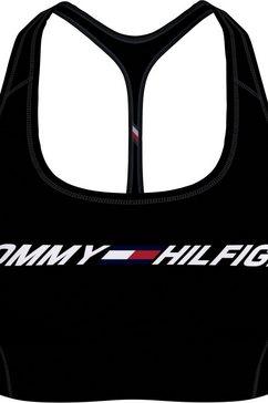 tommy sport sportbustier »light intensity graphic bra« zwart