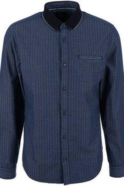 s.oliver overhemd met lange mouwen blauw