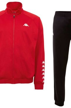 kappa sportpak till kids met contrastrijke logoprints rood