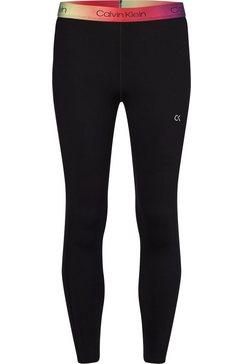 calvin klein performance functionele legging wo - 7-8 tight met calvin klein elastische band in de kleuren van de regenboog zwart
