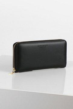 seidenfelt portemonnee smilla met draagriem zwart