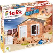 teifoc constructie-speelset strandhaus made in germany (130 st.) bruin