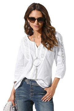 classic inspirationen blouse zonder sluiting wit