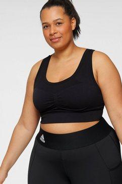 adidas performance sport-bh studio bra plus size zwart