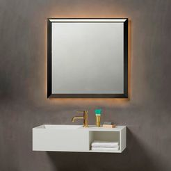 loevschall led-lichtspiegel verona zwart