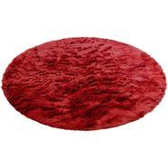 hoogpolig vloerkleed, »valeria«, home affaire, rond, hoogte 60 mm, met print rood