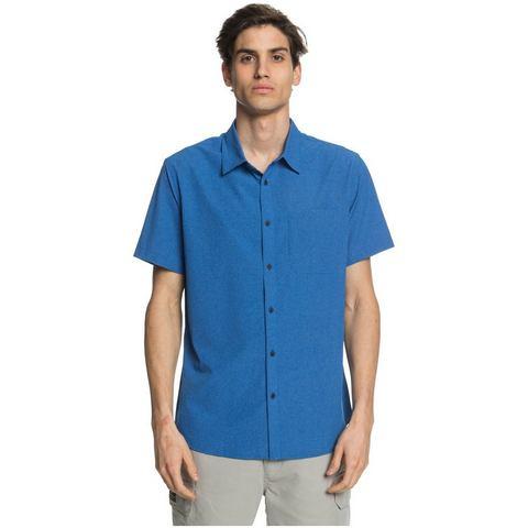 NU 20% KORTING: Quiksilver Waterman Tech Tides Overhemd met Korte Mouwen en UPF 30 voor Heren