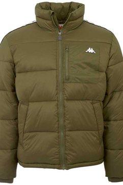 kappa gewatteerde jas herold met verstelbaar elastiek in de zoom onderlangs groen