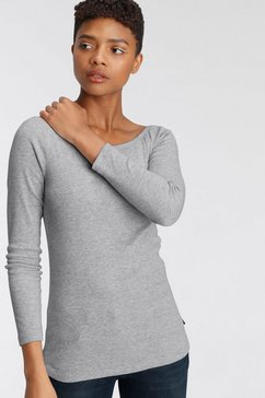 arizona shirt met carmenhals off-shoulder verschillend te dragen grijs