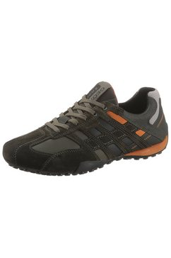 geox sneakers uomo snake met ventilerende geox-membraan bruin
