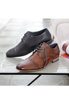 bugatti veterschoenen mattia met stijlvolle siernaden zwart