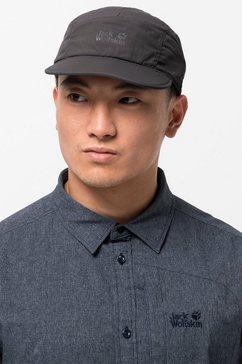 jack wolfskin fitted cap supplex road trip cap grijs