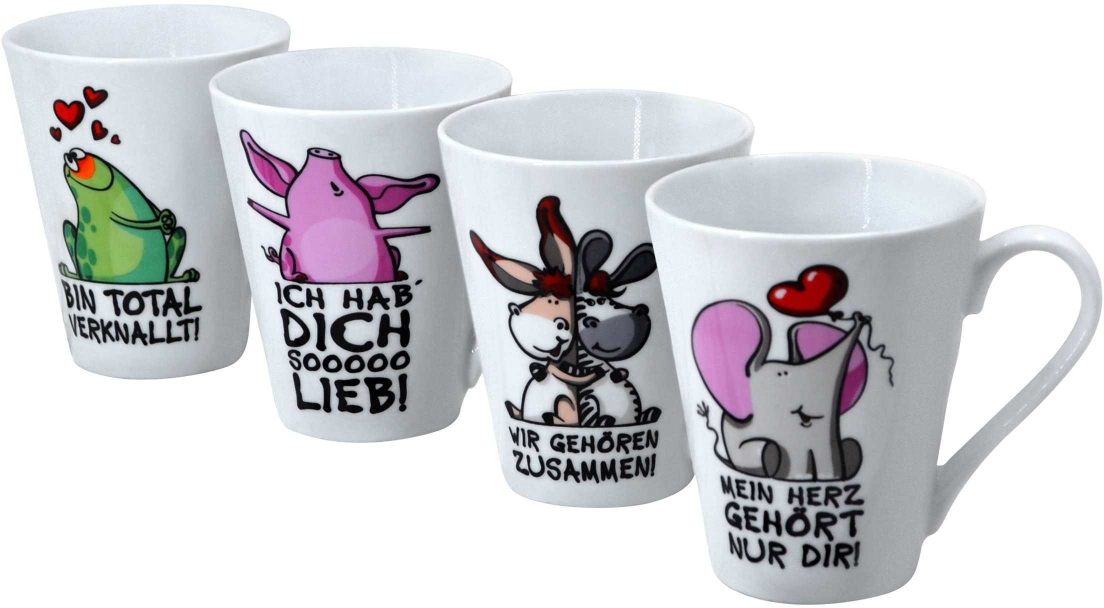 Retsch Arzberg beker Beestachtig met 4 decors-quotes, 4-delig (set, 4-delig) veilig op otto.nl kopen