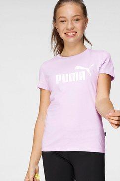 puma t-shirt ess logo tee g paars