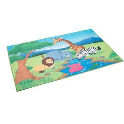 boeing carpet vloerkleed voor de kinderkamer »wasserstelle« multicolor