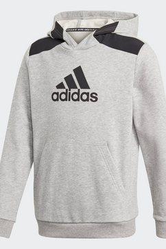 adidas performance hoodie »logo« grijs