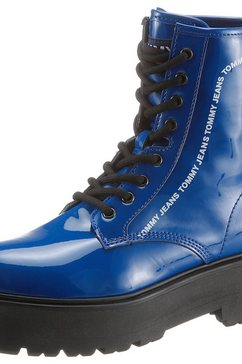 tommy jeans plateaulaarsjes »patent lace up boot«