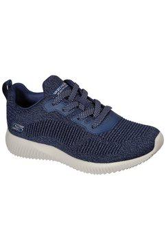 skechers sneakers bobs squad ghost star met fijne metallicglans blauw