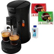senseo koffiepadautomaat select eco csa240-20, inclusief gratis toebehoren ter waarde van € 14,- zwart