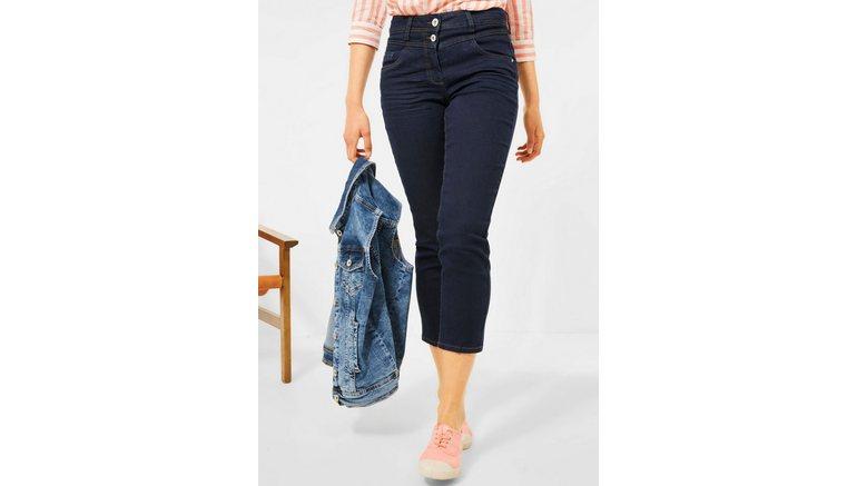 Cecil 7/8 jeans Stijl Toronto met contrastkleurige naden
