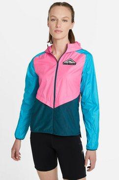 nike runningjack shield womens trail running jacket roze