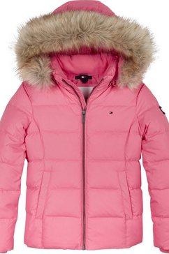 tommy hilfiger winterjack »essential basic down jacket« roze