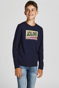 jack  jones junior shirt met lange mouwen blauw
