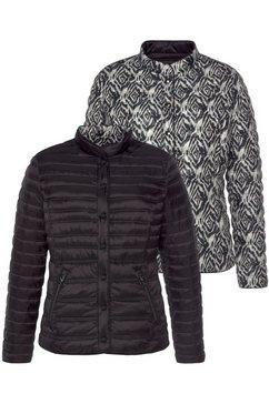 barbara lebek gewatteerde jas zwart