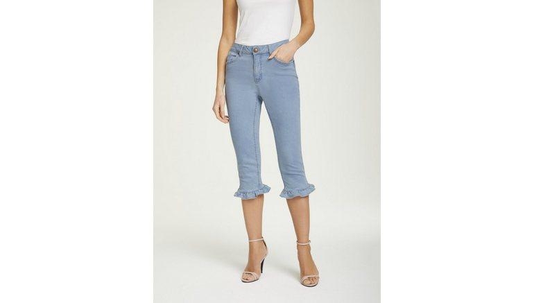 ASHLEY BROOKE by Heine capri jeans met rucherand