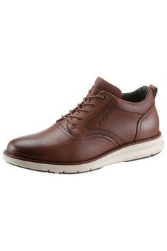 tommy hilfiger sneakers premium leather hybrid shoe met decoratieve stiksels bruin