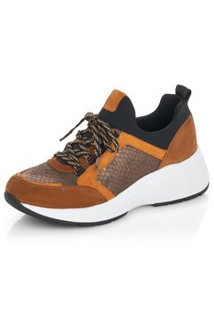 remonte sneakers met sleehak bruin