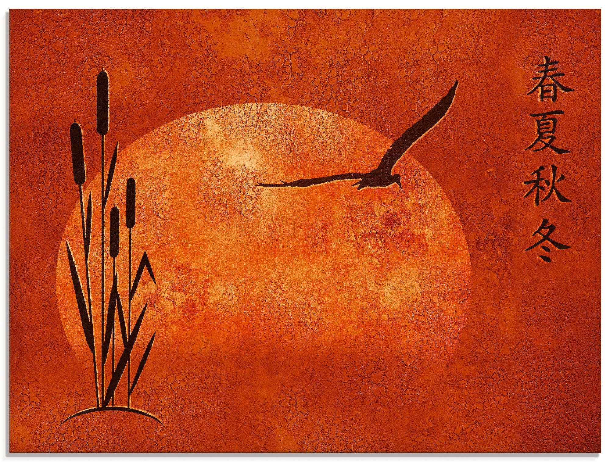 Artland print op glas Aziatische seizoenen (1 stuk) - verschillende betaalmethodes