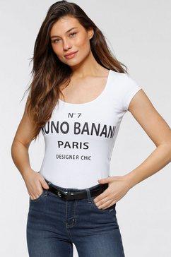 bruno banani t-shirt met statement-print wit