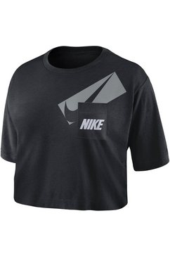 nike trainingsshirt »nike dri-fit (2) women's graphic training crop top« zwart