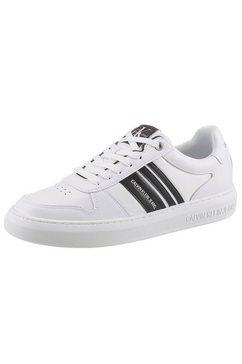 calvin klein sneakers in de materiaalmix wit