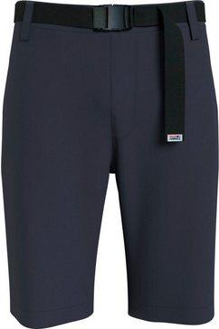 tommy jeans chino-short tjm ethan worker short (met een afneembare riem) blauw