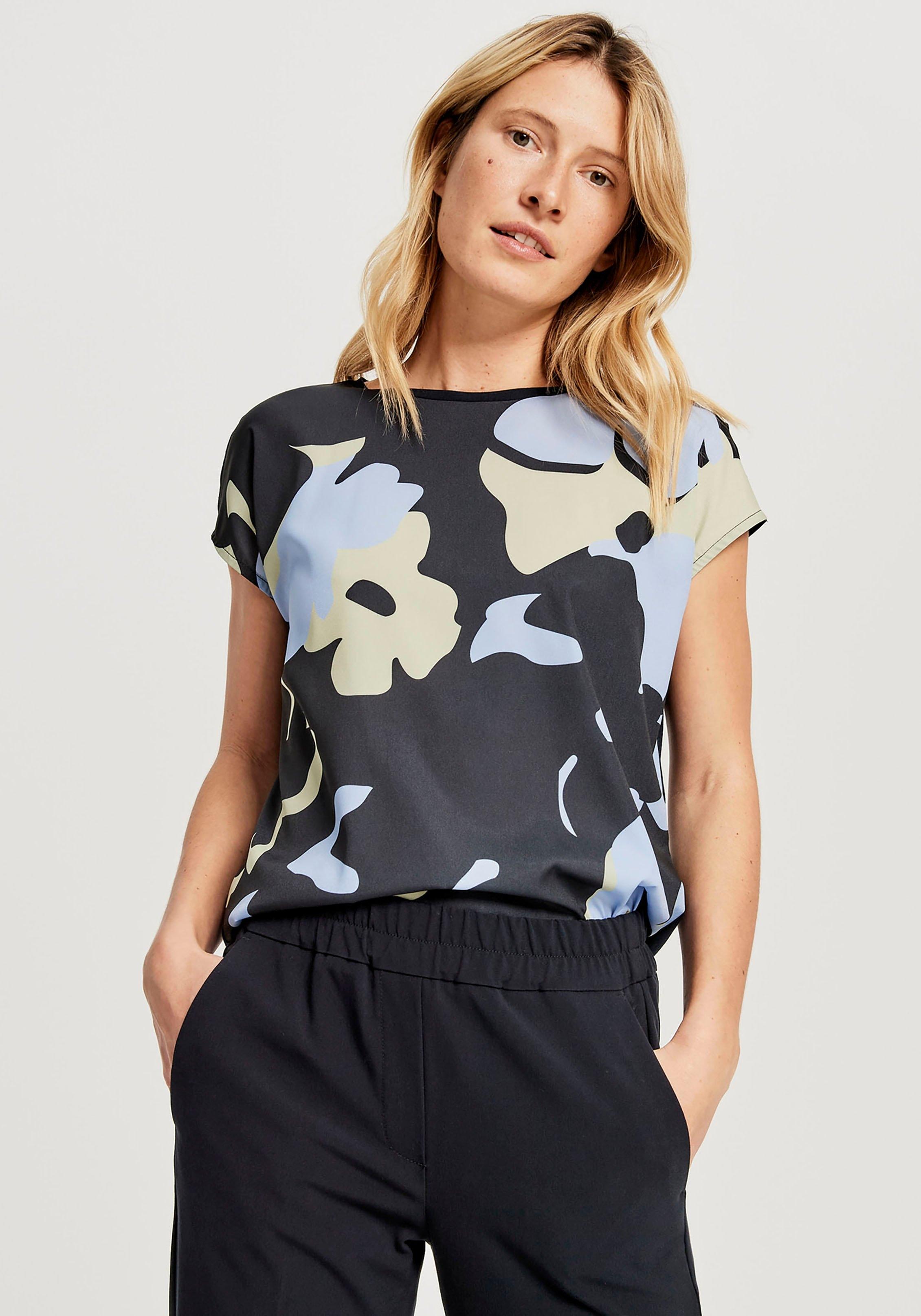 OPUS shirt met korte mouwen Siko met gebloemde print voor goedkoop op otto.nl kopen