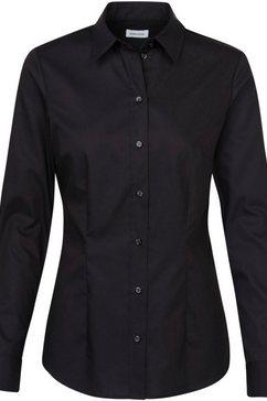seidensticker schwarze rose klassieke blouse zwart