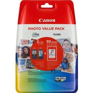 canon inktpatroon pg-540xl-cl-541xl + fotopapier (set) multicolor