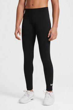 nike sportswear legging big kids (girls) swoosh leggings zwart