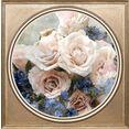 queence artprint op acrylglas »blumen« blauw