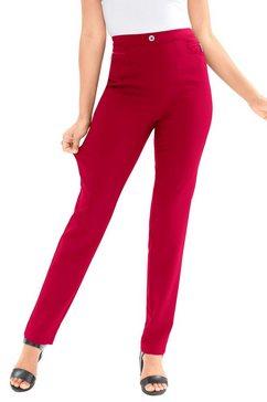 classic basics broek met sierritsstrook rood