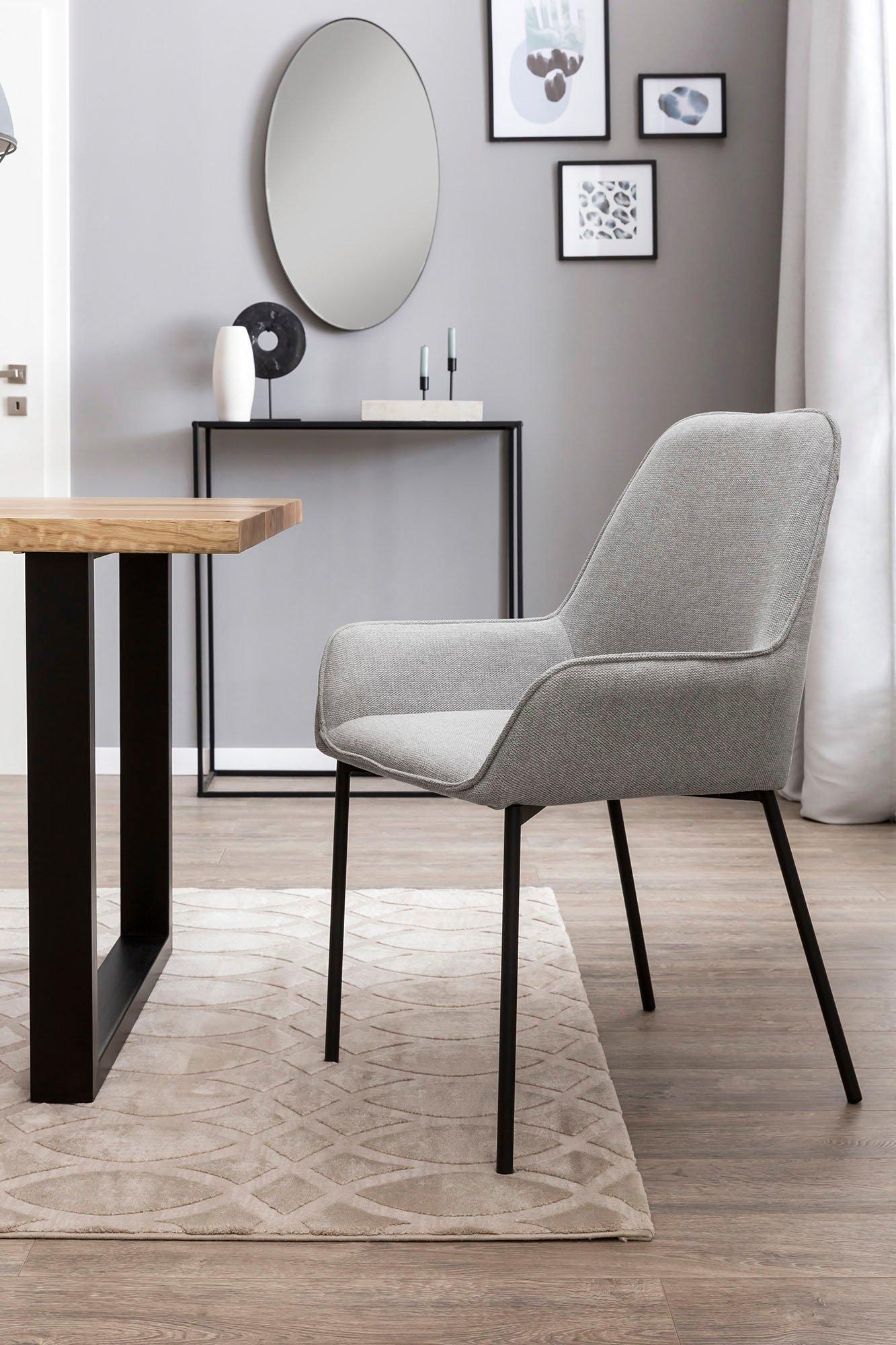 SalesFever eetkamerstoel Bekleding van structuurstof (set, 2 stuks) online kopen op otto.nl