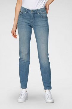 mac slim fit jeans »slim destroyed« blauw
