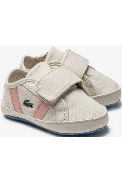 lacoste babyschoentjes »sideline crib 0120« wit