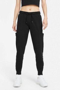 nike joggingbroek »w nsw air pant flc mr plus women's pants« zwart
