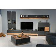 places of style hangvitrine onyx met soft-closefunctie, naar keuze met of zonder glasinzet grijs
