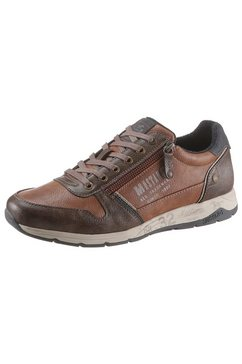 mustang shoes sneakers met praktische ritssluiting bruin